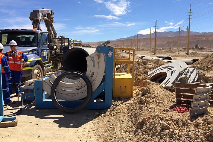 WIDOS chantier en Chili en 2015