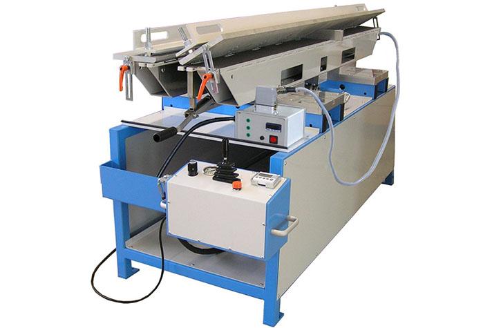 Máquina soldadora de plástico taller hasta 2000 mm largo lámina