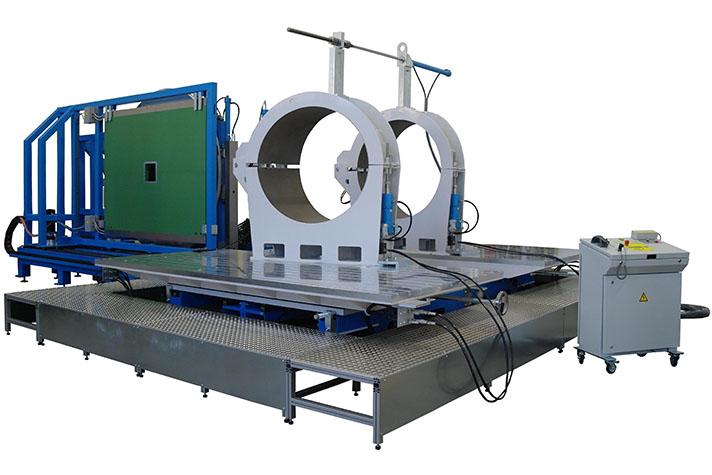Machine de soudage plastique atelier jusqu'au DE 1600 mm