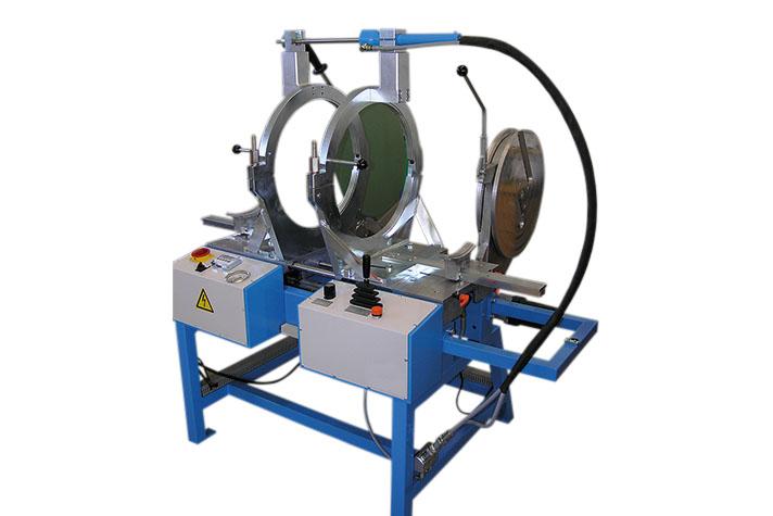 Machine de soudage plastique atelier jusqu'au DE 450 mm
