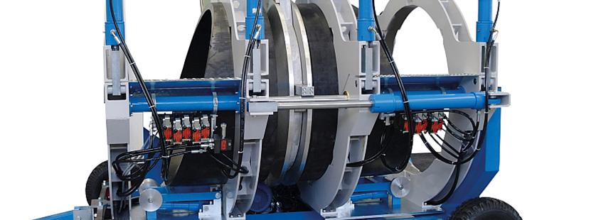 Machine de soudage plastique chantier jusqu'au DE 1200 mm