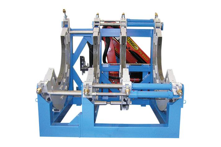 Machine de soudage plastique chantier jusqu'au DE 2000 mm
