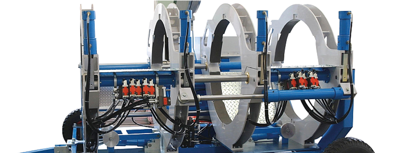 Máquina soldadora de plástico obra hasta DE 1000 mm