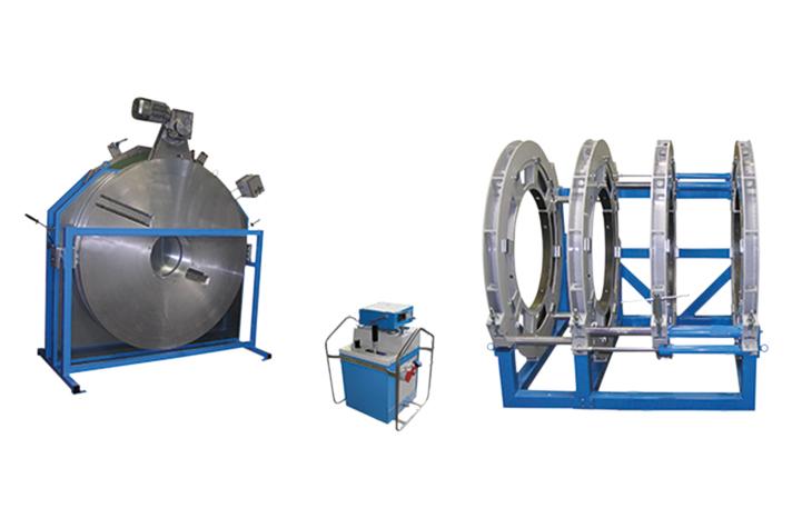 Máquina soldadora de plástico obra hasta DE 1600 mm