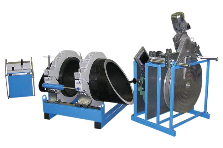 Máquina soldadora de plástico obra hasta DE 1800 mm