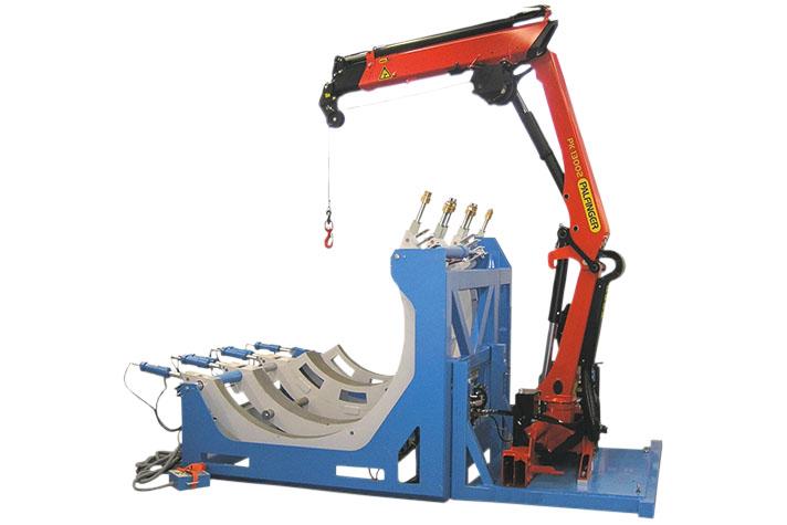 Máquina soldadora de plástico obra hasta DE 2400 mm