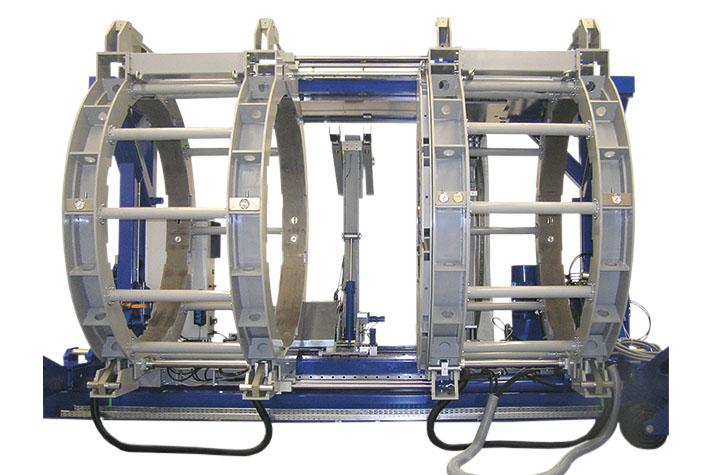 Máquina soldadora de plástico obra hasta DE 2500 mm