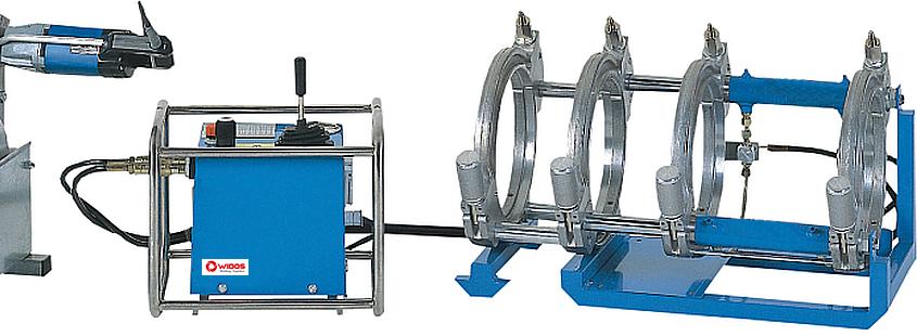 Máquina soldadora de plástico obra hasta DE 250 mm