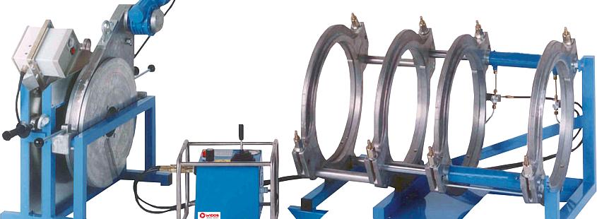 Máquina soldadora de plástico obra hasta DE 500 mm