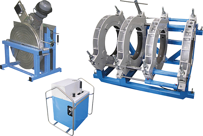 Máquina soldadora de plástico obra hasta DE 630 mm