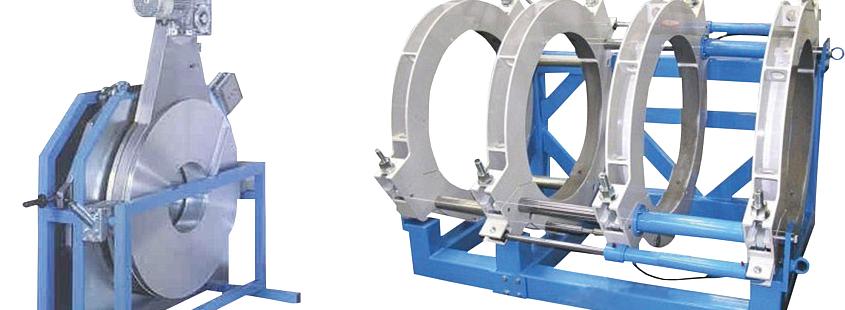 Máquina soldadora de plástico obra hasta DE 800 mm