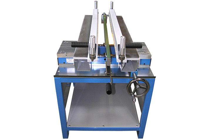 Máquina soldadora de plástico taller hasta 1000 mm largo lámina