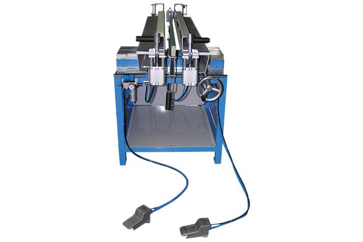 Máquina soldadora de plástico taller hasta 1500 mm largo lámina