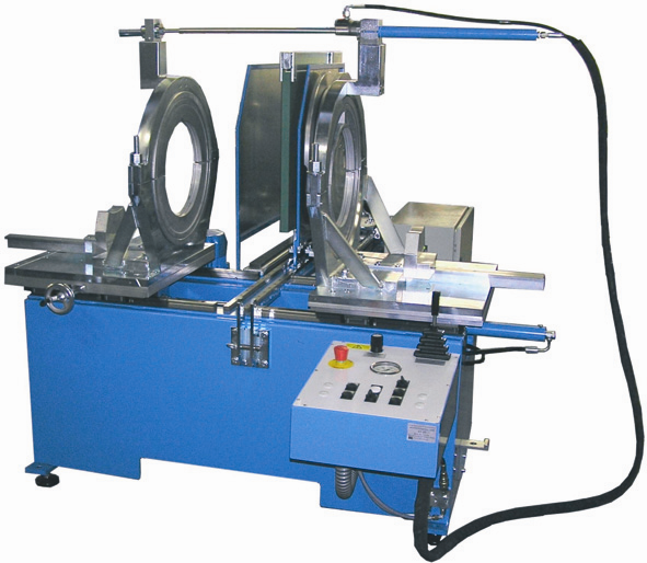 Máquina soldadora de plástico taller hasta DE 500 mm
