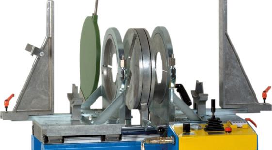 Plastic welding machine workshop to OD 450 mm