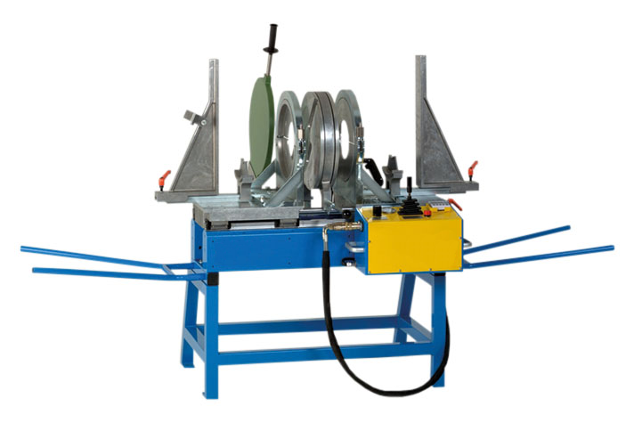 Plastic welding machine workshop to OD 450 mm