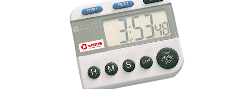 Soudage plastique WIDOS accessoires chronomètre