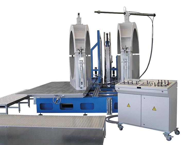 Machine de soudage plastique atelier jusqu'au DE 1200 mm