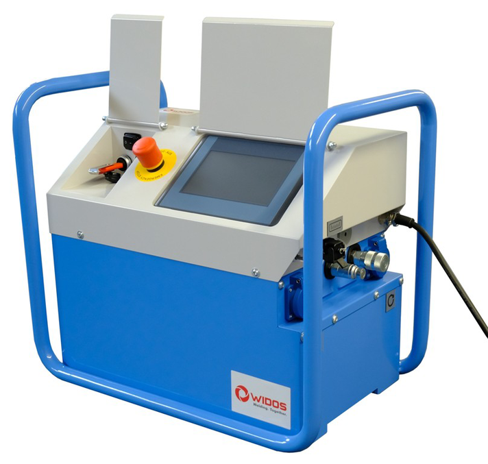 Plastic welding machine construction site up to OD 630 mm