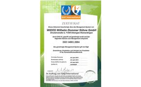 WIDOS ISO Zertifikat 14001