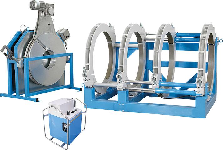 Machine de soudage plastique chantier jusqu'au DE 1000 mm