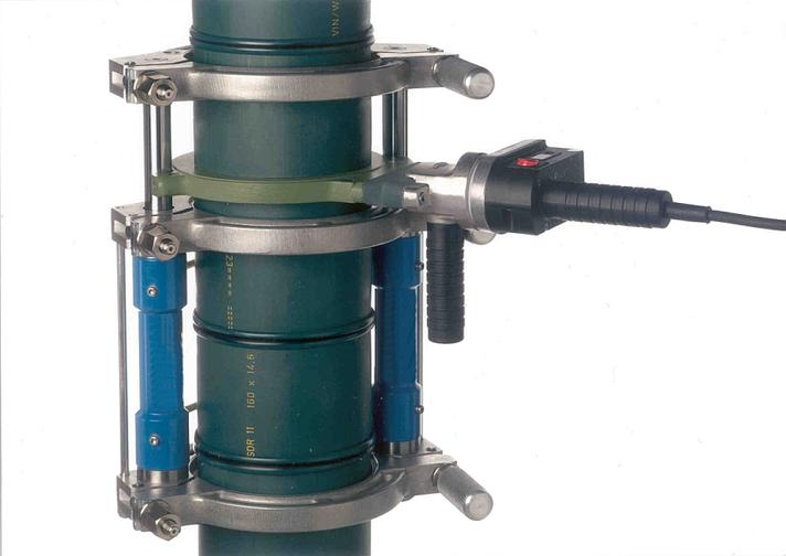 Máquina soldadora de plástico obra hasta DE 160 mm