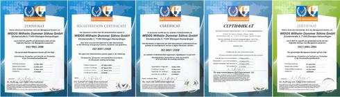 WIDOS certificats d'ISO