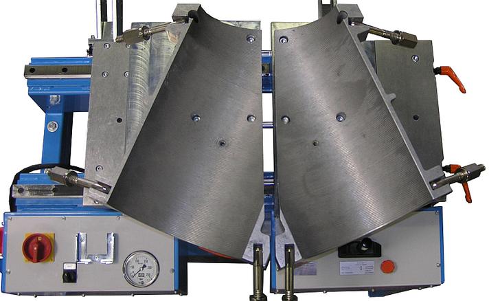 Máquina soldadora de plástico taller hasta DE 315 mm