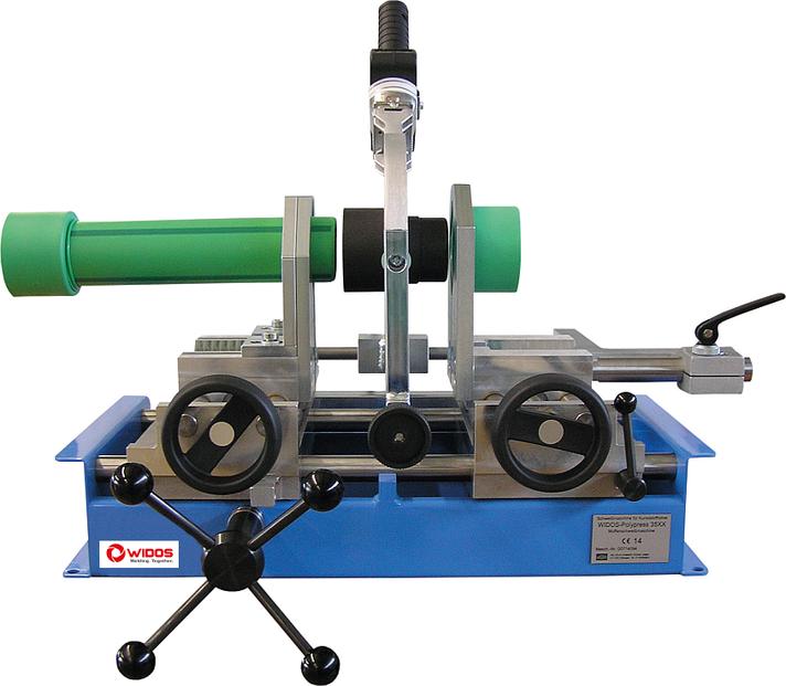 Máquina soldadora de plástico taller hasta DE 125