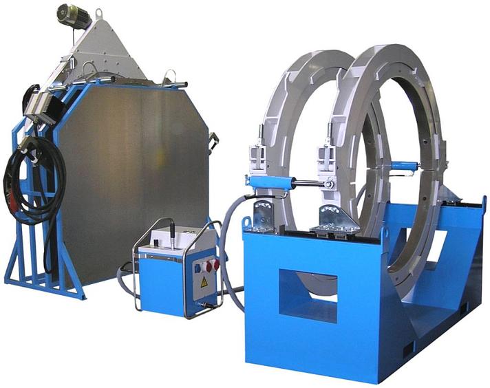 Machine de soudage plastique chantier jusqu'au DE 1800 mm