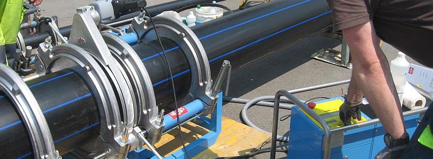 Máquina soldadora de plástico obra hasta DE 3000 mm