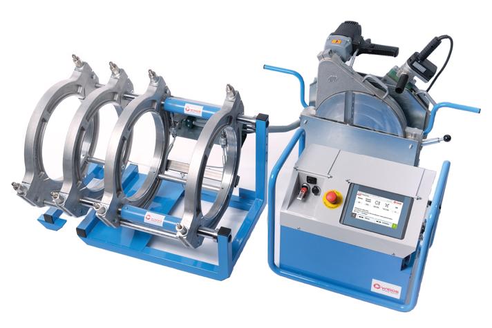 Máquina soldadora de plástico obra hasta DE 355 mm