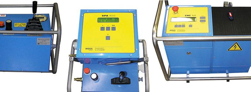 Kunststoffschweißmaschine Baustelle Manuell Protokollierung CNC