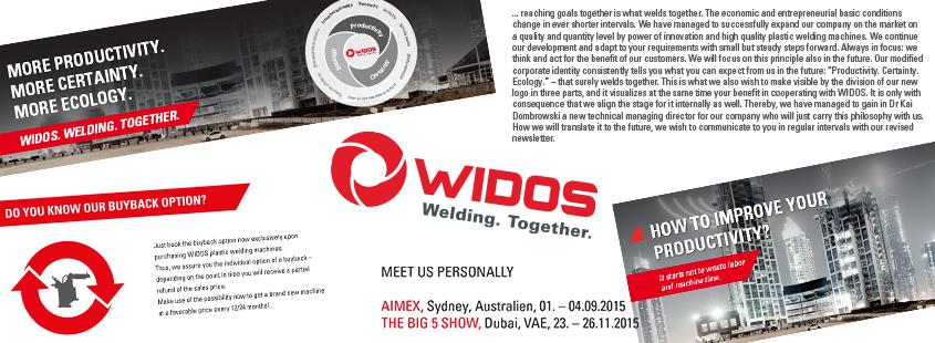 Soudage plastique WIDOS bulletin d'information